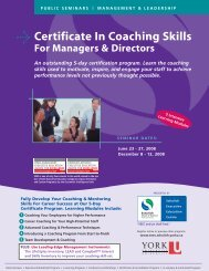 Certificate In Coaching Skills - Schulich School of Business - York ...