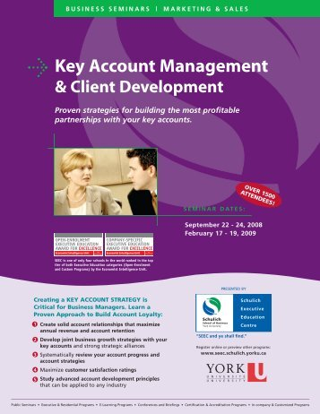 Key Account Management MASTER - Schulich School of Business ...