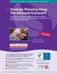 Strategic Planning Using The Balanced Scorecard - Schulich School ...