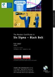 Six Sigma - Schulich School of Business - York University
