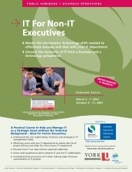 IT For Non-IT Executives - Schulich School of Business - York ...