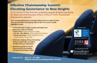 Effective Chairmanship Summit: Elevating Governance to New Heights