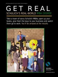 schulich's real-world mba degree - Schulich School of Business ...