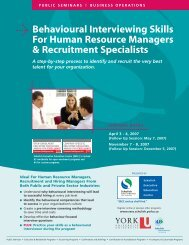 Behavioural Interviewing Skills For Human Resource Managers ...
