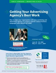 Getting Your Agency's Best Work - Schulich School of Business ...