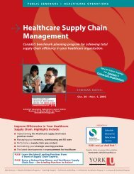 Healthcare Supply Chain Management - Schulich School of ...