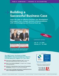Building a Successful Business Case - Schulich School of Business ...