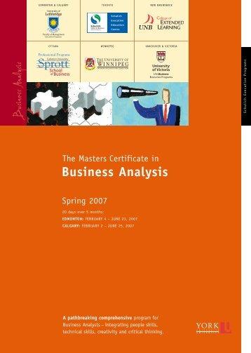 MCBA Lethbridge brochure - Schulich School of Business
