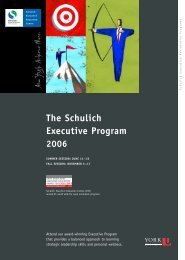 Executive Program - Schulich School of Business - York University