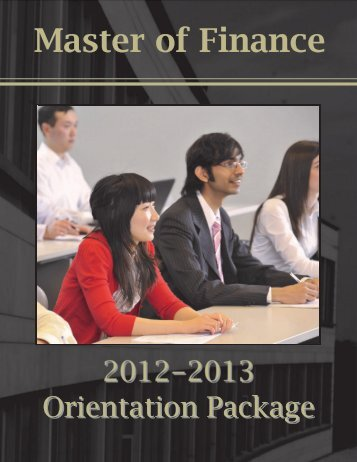 Master of Finance - Schulich School of Business - York University