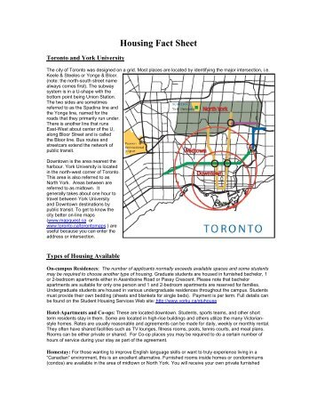 Off-campus Housing Fact Sheet - Schulich School of Business - York ...