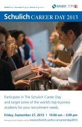 schulichCareer Day 2013 - Schulich School of Business - York ...