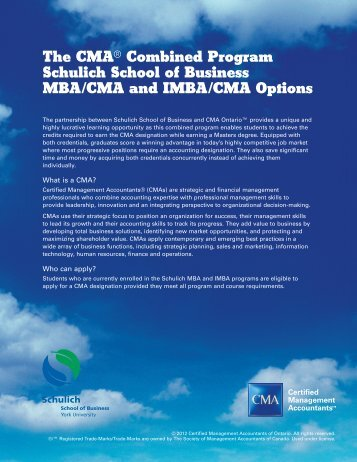 to download detailed information about the MBA/IMBA-CMA Option.