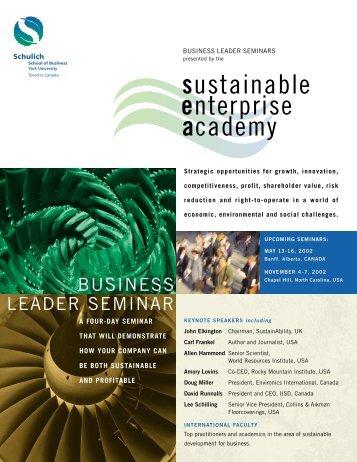 May 2002 Seminar Brochure.pdf - Schulich School of Business ...