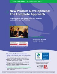 New Product Development - Schulich School of Business - York ...