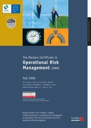 Operational Risk Management - Schulich School of Business - York ...