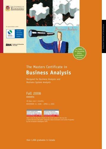 MCBA Winnipeg - Schulich School of Business - York University