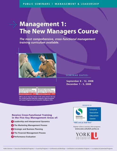 Management 1 - Schulich School of Business - York University