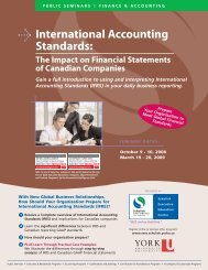 International Accounting Standards - Schulich School of Business ...