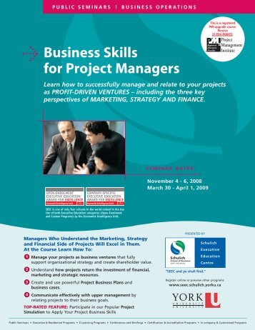 Business Skills for Project Managers - Schulich School of Business ...