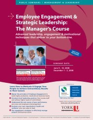 Employee Engagement & Strategic Leadership - Schulich School of ...