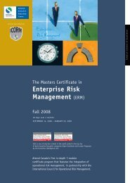 Enterprise Risk Management - Schulich School of Business - York ...