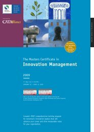 Innovation Management - Schulich School of Business - York ...