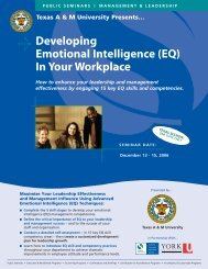 Developing Emotional Intelligence (EQ) - York University