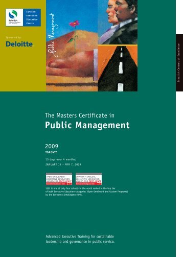Public Management - Schulich School of Business - York University