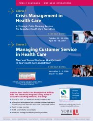 Crisis Management in Health Care Managing Customer Service in ...