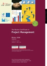 Project Management - Schulich School of Business - York University
