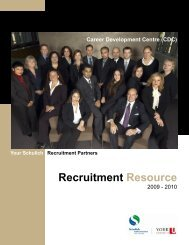 2009-2010 Recruitment Resource - Schulich School of Business ...