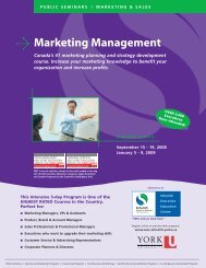Marketing Management - Schulich School of Business - York ...