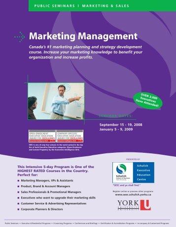 Marketing Management - Schulich School of Business - York ...