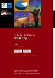 Marketing - Schulich School of Business - York University
