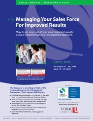 Managing Your Sales Force For Improved Results - Schulich School ...