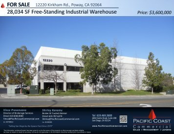 FOR SALE 28,034 SF Free-Standing Industrial Warehouse - LoopNet