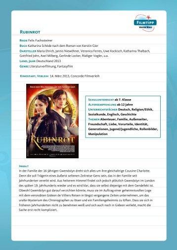 FilmTipp Rubinrot - Vision Kino