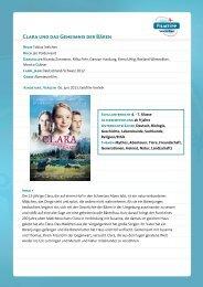 FilmTipp Clara und das Geheimnis der Bären - Vision Kino