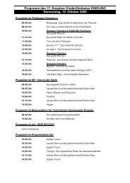 KINOLINO 2009 - Programm - 15.10. bis 25.10.09 - Schulkino Dresden