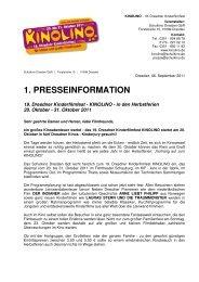 1. Pressemitteilung - KINOLINO 2011 - Schulkino Dresden
