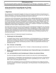 Richtlinien Baden-Württemberg