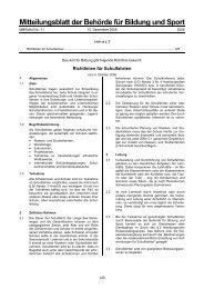 Richtlinien für Schulfahrten