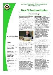 weiterlesen... - Verband Deutscher Schullandheime eV