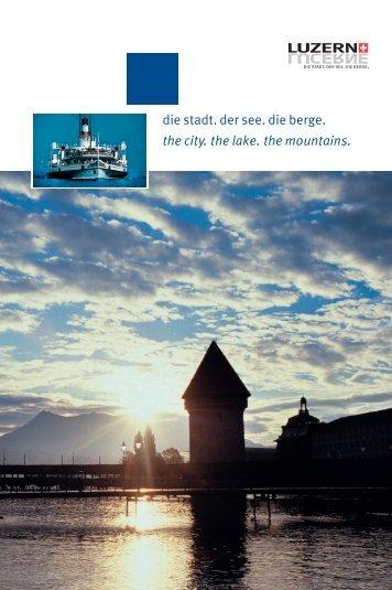 Informationen zur Stadt Luzern - Schulleitungssymposium