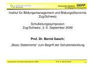 Prof. Dr. Bernd Gasch - Schulleitungssymposium