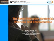 The Swiss Education System(s) - Schulleitungssymposium