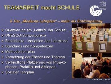 """4. Der """"Moderne Lehrplan"""" - Schulleitungssymposium"""