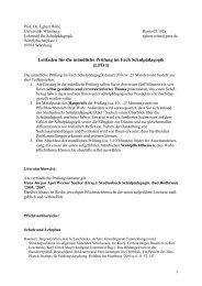 Leitfaden für die mündliche Prüfung im Fach Schulpädagogik (LPO I)