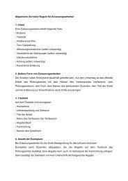 Allgemeine (formale) Regeln für Zulassungsarbeiten 1. Inhalt Eine ...